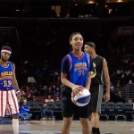 Mo'ne Davis playing with Harlem Globetrotters
