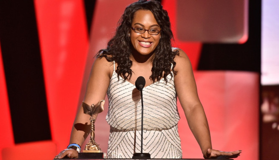 Actress Mya Taylor speaks onstage during the 2016 Film Independent Spirit Awards on February 27, 2016 in Santa Monica, California.  (Photo by Kevork Djansezian/Getty Images)