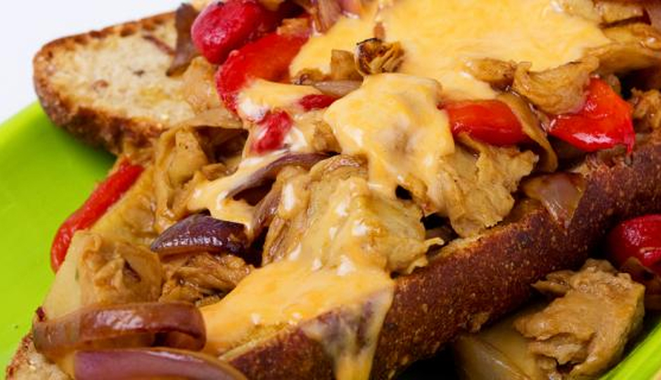 Vegan Cheesesteak by Christina Pirello | Photo by Jason Bleecher