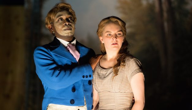 James Ijames and Campbell O'Hare in An Octoroon at Wilma Theater. (Photo by )
