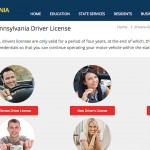 A screenshot of the website that you'd probably think you can use to renew your Pennsylvania driver's license.