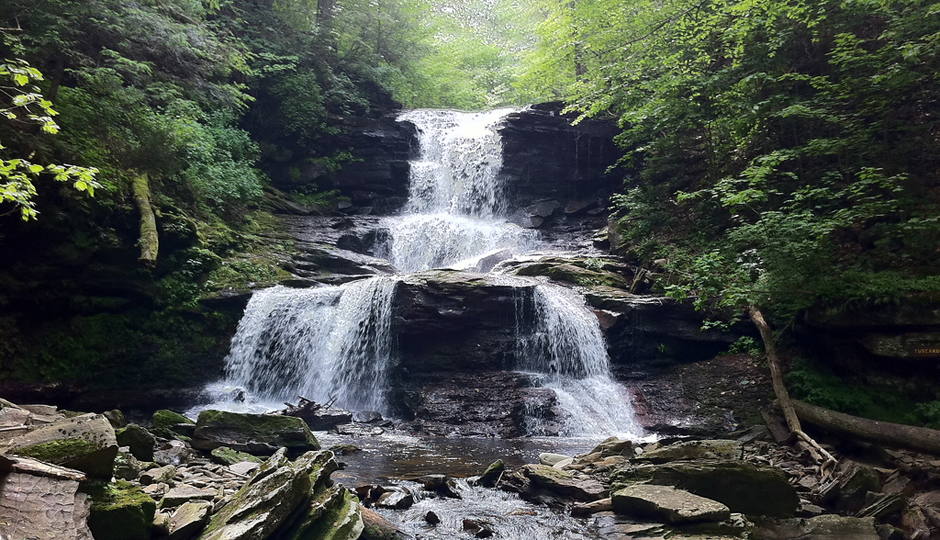 Hikes Near Philadelphia With Waterfalls and Gorgeous Views: Ricketts Glen State Park | Photo by Flickr user Richard Vetter