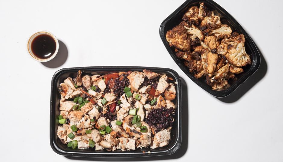 Chicken Teriyaki and Roasted Cauliflower at Snap Kitchen | Photo by Claudia Gavin
