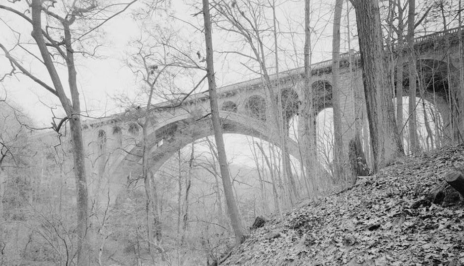 The Walnut Lane Bridge over the Wissahickon Creek will close to all but pedestrians April 1 for six months of reconstruction. Image| Historic American Engineering Record, Library of Congress
