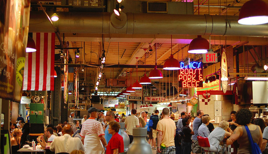 The Reading Terminal Market, already a crossroads for Philadelphians of all stripes, will serve as a bridge between the city's ethnic communities through a Knight Cities Challenge-winning series of cooking classes. Photo | Fletcher6 from Wikimedia Commons, licensed under CC-BY-SA-3.0