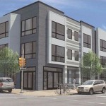 This 45-unit development will rise at 5th and Thompson streets in South Kensington. | Rendering: Harman Deutsch Architecture via Frankel Management and Streamline Solutions