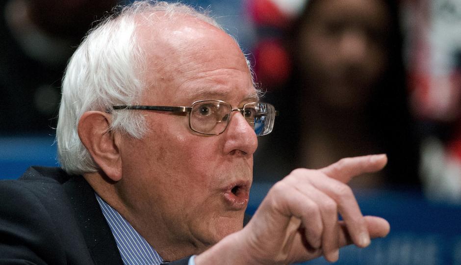 Democratic presidential candidate, Sen. Bernie Sanders, I-Vt., speaks at a campaign stop, Thursday, April 21, 2016, in Scranton, Pa. (AP Photo/Matt Rourke)