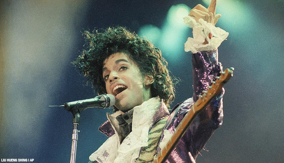 Prince performs at the Forum in Inglewood, Calif., February, 18, 1985.