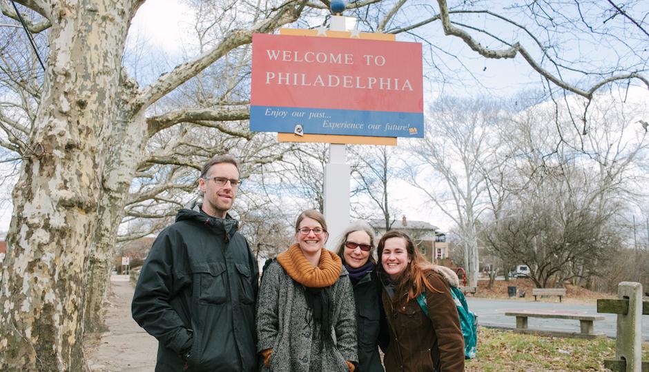 Border explorers, from left to right: JJ Tiziou, Adrienne Mackey, Ann de Forest and Samantha Ward. Photo | Adachi Pimentel