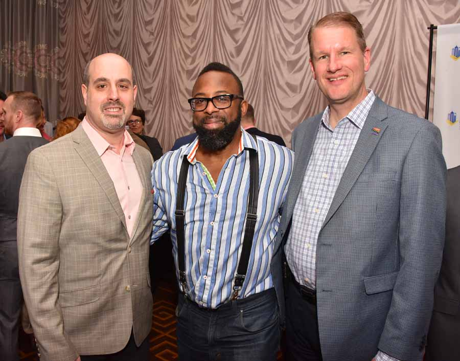 C. Richard Horrow, Esq. Attorney-At-Law and president of IBA, Marc Coleman, President, The Tactile Group and Paul Steinke, Executive Director of the Preservation Alliance for Greater Philadelphia Photography by Hugh E. Dillon.
