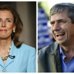 Katie McGinty (left), Joe Sestak (right)