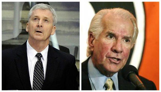 L: Terry Murray (Mark J. Terrill, AP) R: Ed Snider (George Widman, AP)