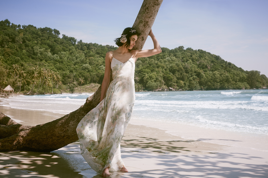 We're a bit obsessed with the Inesse dress from BHLDN's new honeymoon collection. All photos courtesy of BHLDN.