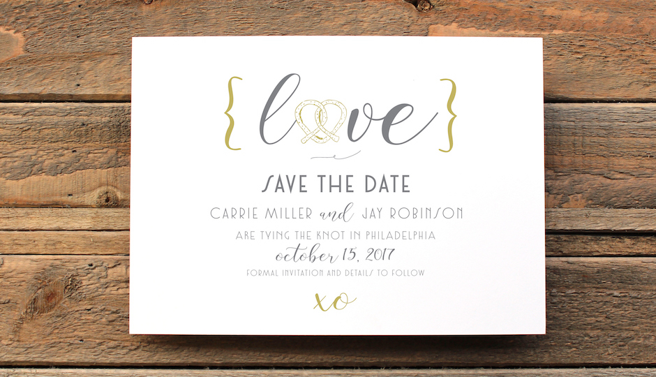 How adorable is this Philly-themed save-the-date?