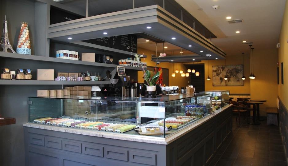 Here's a peek inside ICI Macarons & Cafe.