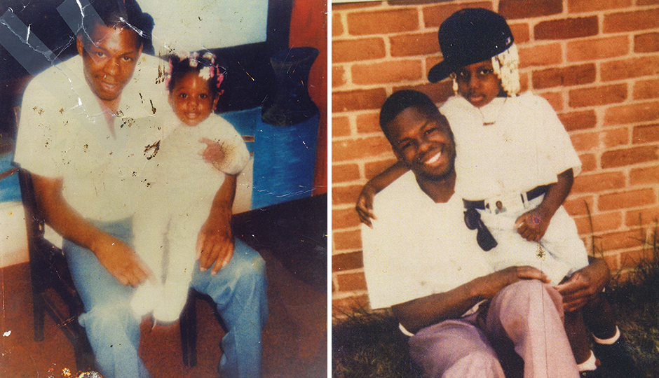 Two shots of LaFaye Gaskins with his daughter, Onia Gaskins. | Photographs courtesy of LaFaye Gaskins