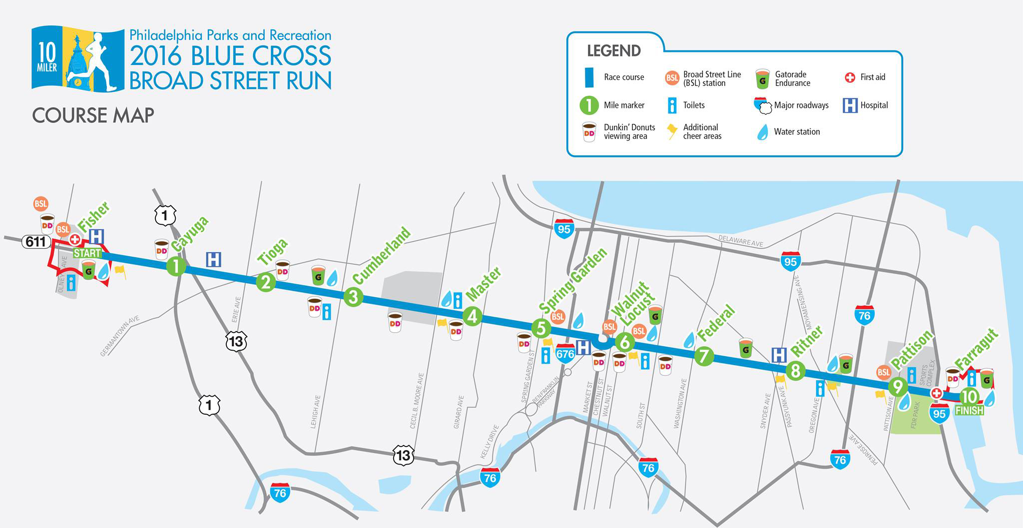 Broad Street Run Guide For Runners And Spectators Be Well Philly - How to map a run