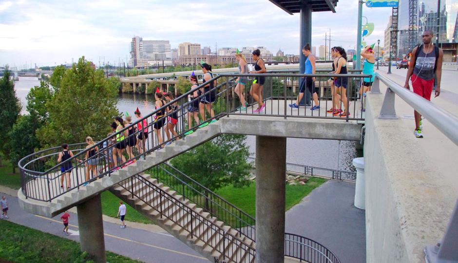 City Fit Girls on a group run   Photo courtesy Kiera Smalls