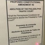 Pennsylvania constitutional amendment to abolish Philadelphia traffic court