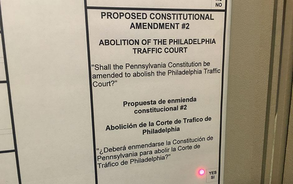 Pennsylvania constitutional amendment to abolish Philadelphia traffic court