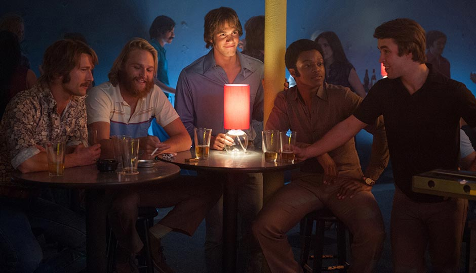 Wyatt Russell (second from left) and Juston Street (fourth from left). Photo   Paramount Pictures