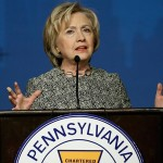 Hillary Clinton speaks earlier this year at the Pennsylvania AFL-CIO Convention in Philadelphia. Photo | Matt Rourke, AP