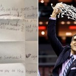 Annie Seminick's letter; Jay Wright, (Aaron Doster, USA Today Sports)