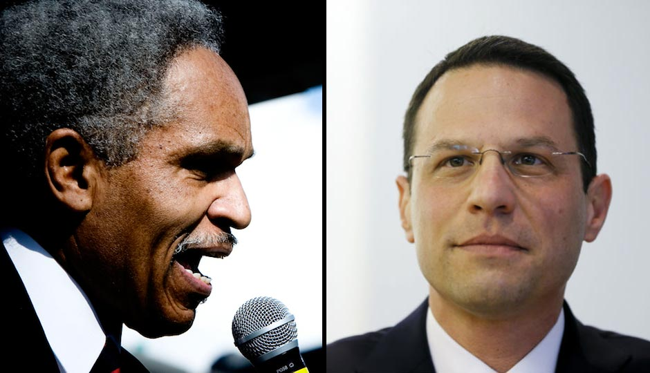 Left: John Street (Photo | Jeff Fusco). Right: Josh Shapiro (Photo | Matt Rourke, AP)