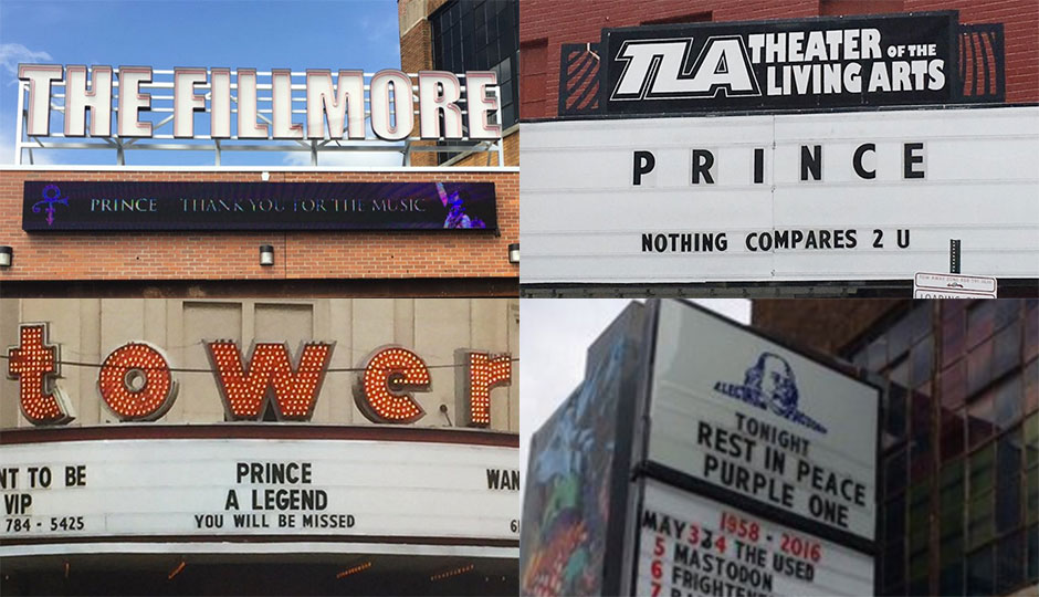 Marquees - Prince tributes