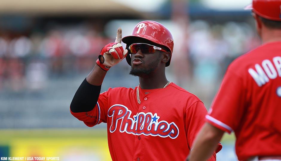 Philadelphia Phillies center fielder Odubel Herrera.