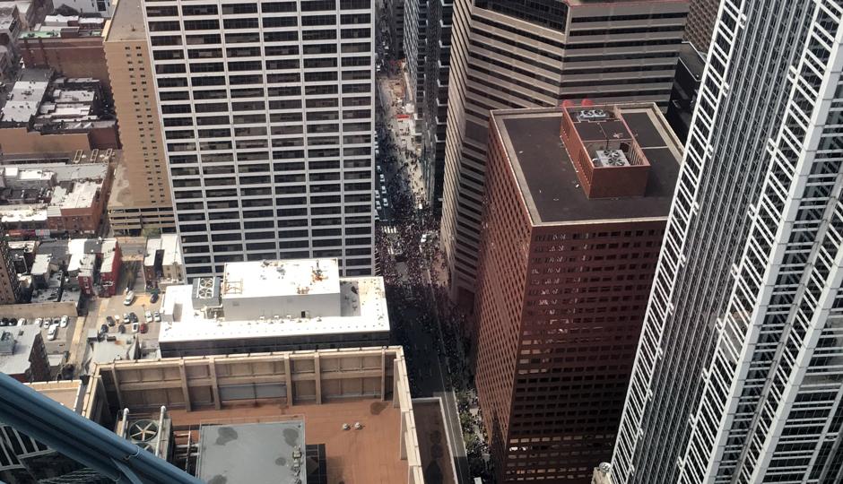 Parade - villanova - Philly from the top