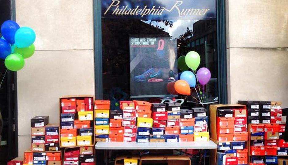 A peek at a past Philadelphia Runner sidewalk sale | Photo via Facebook