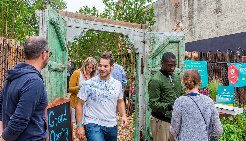 The PHS Pop Up Garden will return to the 1400 block of South Street | Photo via PHS