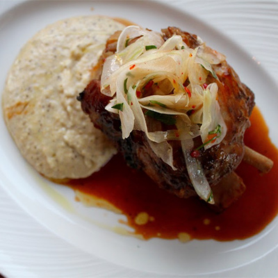 Pork shank at A Mano | Photo by Emily Teel
