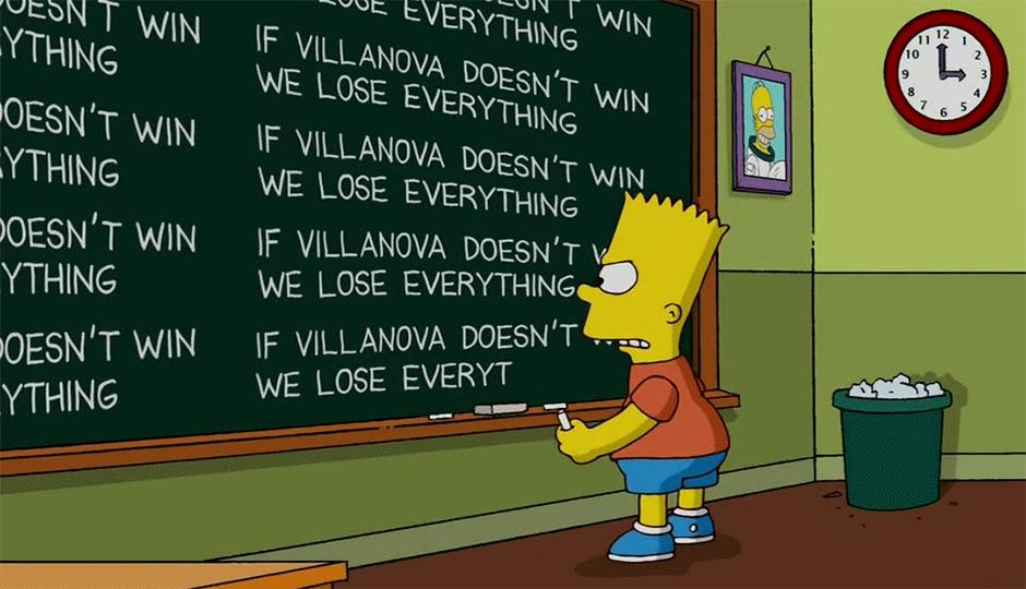 Villanova - Simpsons - Chalkboard gag