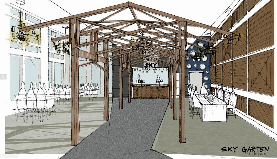 Rendering of the upcoming Skygarten at 3 Logan Square