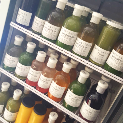 Towners' juice fridge | Photo via Instagram