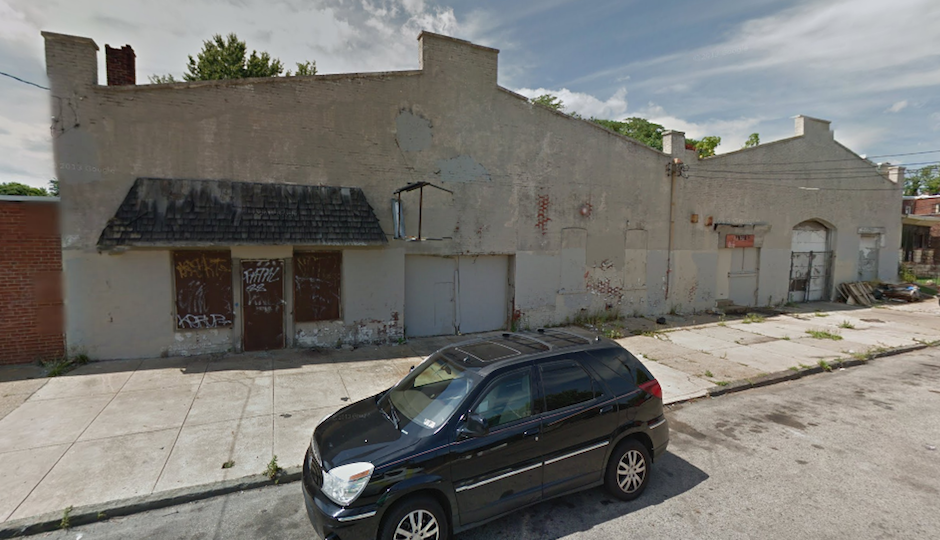 The warehouse, before it collapsed. | Google Maps