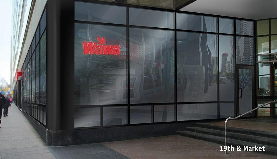Wawa - rendering 1900 Market store