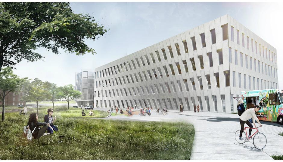1200 Intrepid Avenue at the Navy Yard, the first Bjarke Ingels Group (BIG) building in Philadelphia | Rendering: BIG