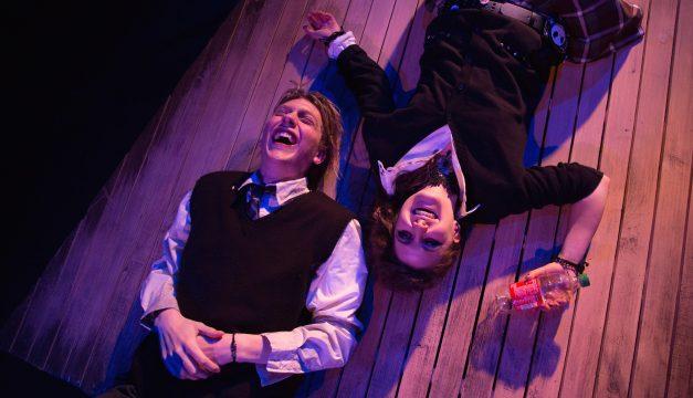 Nicholas Scheppard and Hannah Parke in Moth at Azuka Theatre. (Photo by AustinArt)