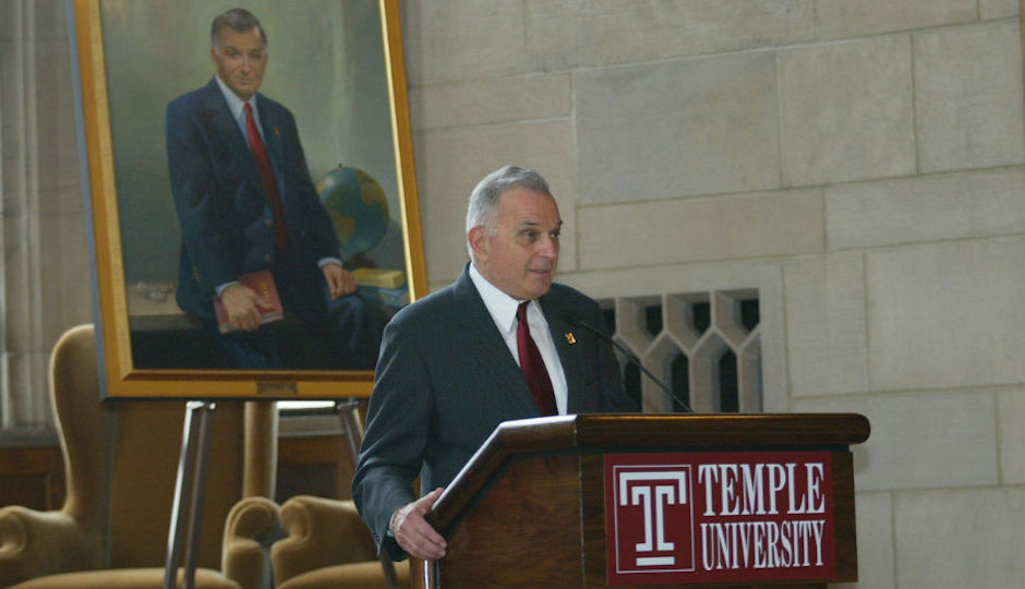 Peter Liacouras in 2002. Photo courtesy of Temple University.