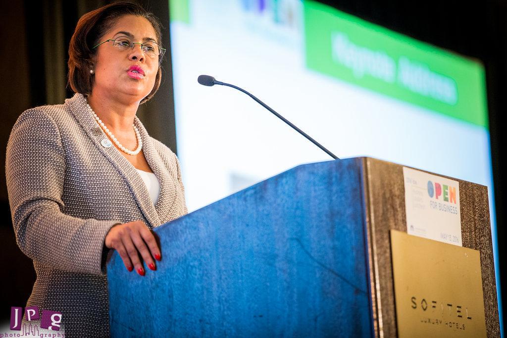 Julie Coker Graham,  President and CEO of the Philadelphia Convention & Visitors Bureau. JPG Photography