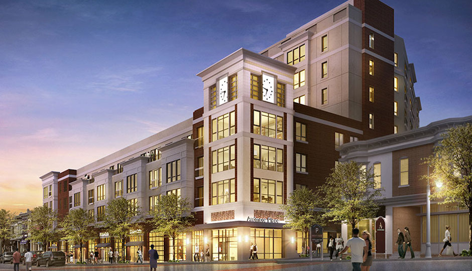 The director of a national developers' advocacy group argues that developments like Carl Dranoff's planned One Ardmore Place are what suburban downtowns need to take advantage of a growing trend in favor of walkable urban places. | Image from Dranoff Properties via Destination Ardmore
