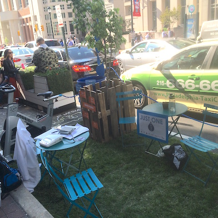 The Coopers Ferry Partnership's healthy parklet.