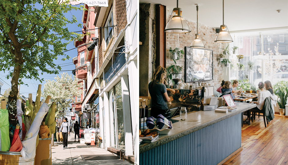 The Best Fabric Row Shops and Restaurants : The scene along Fabric Row