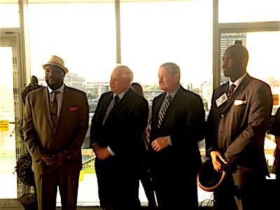Left to right: Councilman Kenyatta Johnson, Councilman Al Taubenberger, Mayor Jim Kenney, Councilman Derek Green