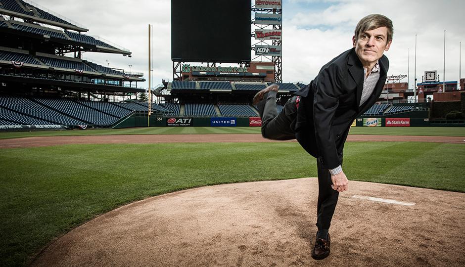 John Middleton on the mound at Citizens Bank Park, April 8, 2016 | Photograph by Chris Crisman