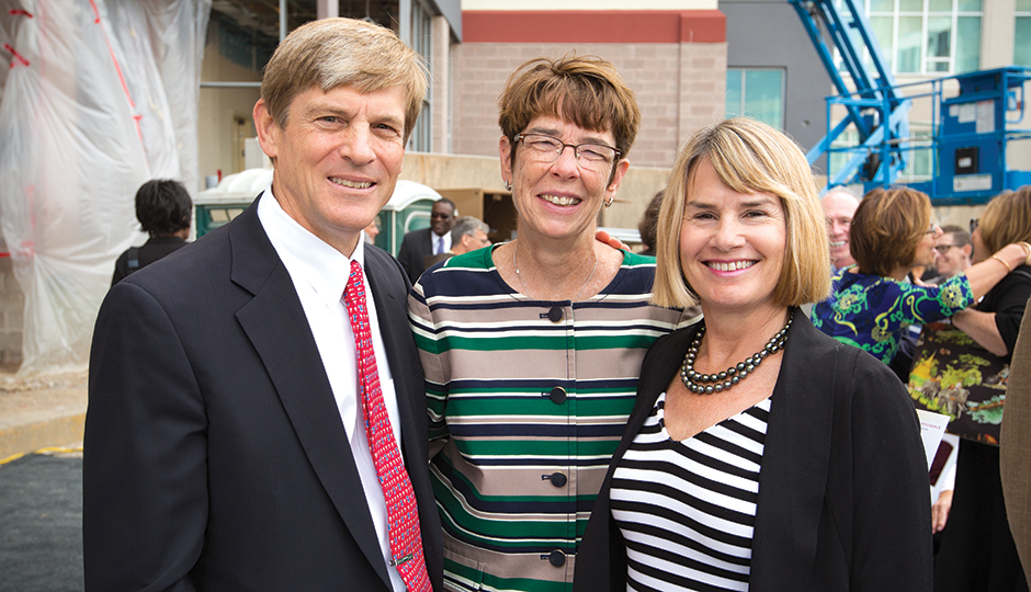 John Middleton with Sister Mary Scullion (center) and wife Leigh. | Photograph by Jay Gorodetzer