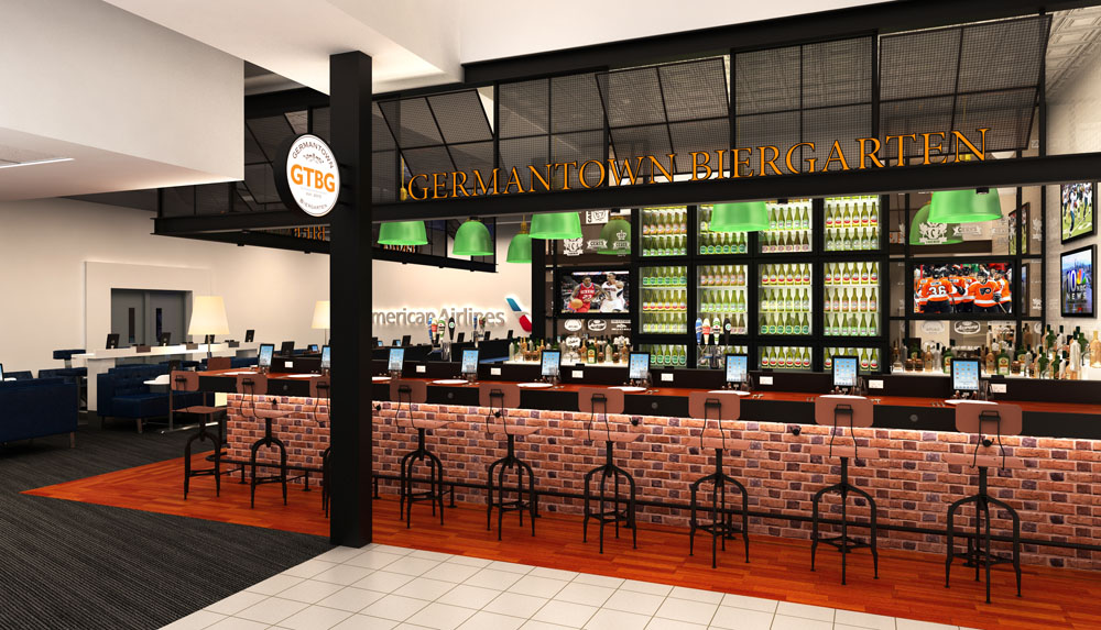 The Tria team is creating a beer bar for the airport.